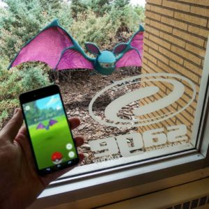 Example of virtual reality in a Pokemon Go game. It's technology that's paving the way for virtual reality ads.