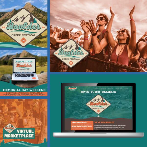 Event marketing example - Boulder Creek Festival