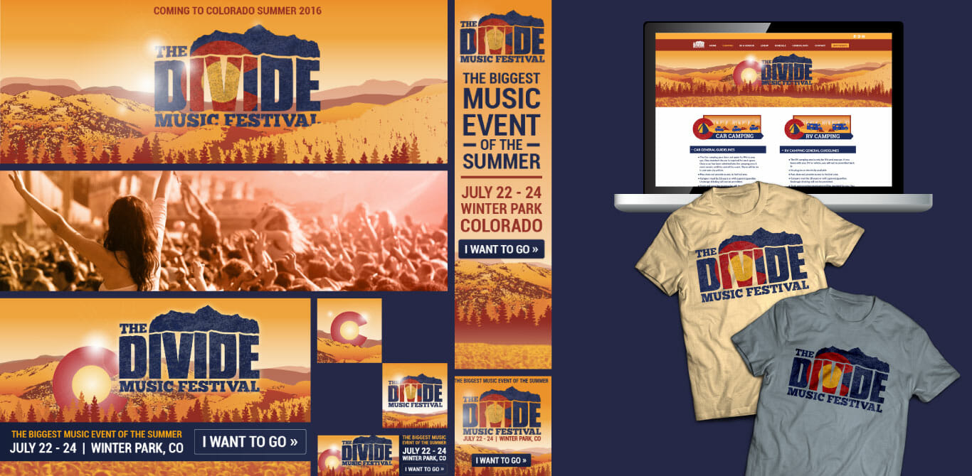 Event marketing example - The Divide Music Festival