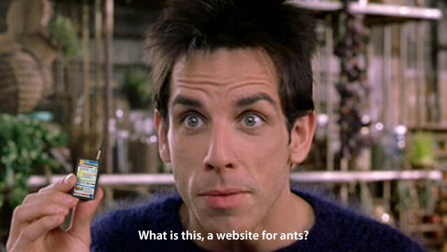 What is this, a website for ants? [meme]