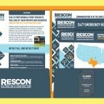 Graphic design example - RESCON
